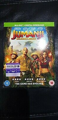 Jumanji Welcome To The Jungle  HD Blu-ray + Download Codes. BRAND NEW