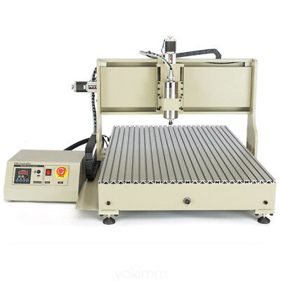Usb 4 Axis 6040 Cnc Router Engraver Engraving Metal Woodworking Cutter 2.2Kw