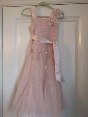 Girls NEXT SIGNATURE Blush Pink Sequin Occasion Party Dress: Age 6 YearsYearsbri