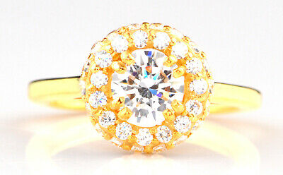 2.00 Carat D/VVS1 Round Cut Solitaire Engagement Ring In 14KT Solid Yellow Gold