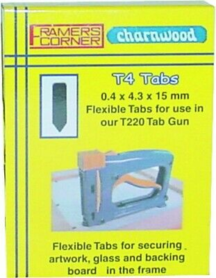 Replacement Flexible Tabs for the Picture Frame Assembly Tab Gun (2,500 Tabs)