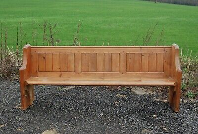 AN ATTRACTIVE RECLAIMED PINE CHURCH PEW / BENCH 210cm Length  ref M1269