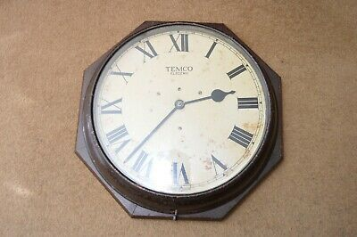 Vintage TEMCO Post Office electric wall clock