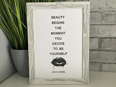chanel quote fashion art picture poster decor kitchen bedroom dressing room A4