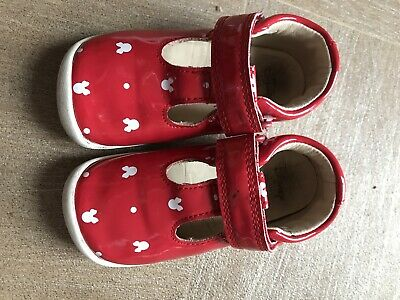 Clarks Girls Disney Minnie Mouse Red Shoes - Size 5f