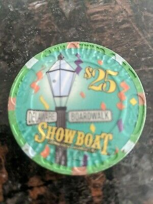 $25 4th EDT GAMING CHIP FROM THE SHOWBOAT CASINO ATLANTIC CITY