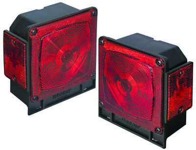 """Wesbar Submersible Under 80"""" Taillight Red  Part# 2523073"""