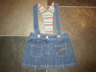 Little Bird By Jools Oliver Denim Pinafore Age 9-12 Months Bnwt