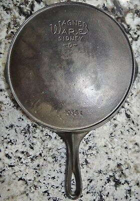 Wagner Ware 1056 E Heat Ring #6 Cast Iron Pan Skillet Vtg Antique CLEANED NICE!