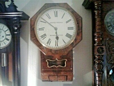Fusee wall clock. Armstrong Manchester chain fusee 12 inch dial.