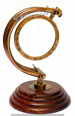 COLLECTIBLE KELVIN /& HUGHES BRASS FRAME ANTIQUE HAND LENS MAGNIFYING GLASS MG 05