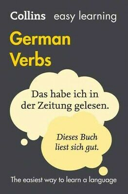Easy Learning German Verbs, Paperback by Collins Dictionaries, Like New Used,...