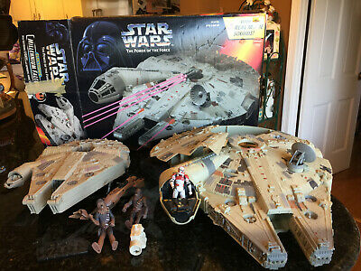 Star Wars (2) Millennium Falcons,1995 Kenner, As Shown In Pics Lucas Films Tonka