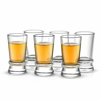 6 Shot Glass Collection Set Cup Glasses Whiskey Vodka Wine Beer Drinking 1.5 Oz