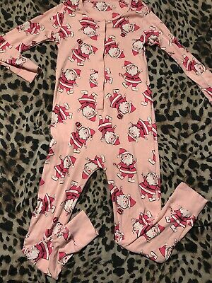 Girls NEXT age 9 Years Pink Santa Pyjamas Worn once