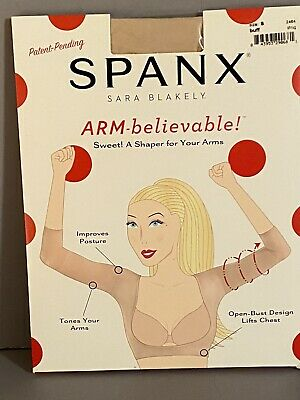SPANX ARM Believable Toning Arm Shaper Buff Nude Size Small S Sara Blakely