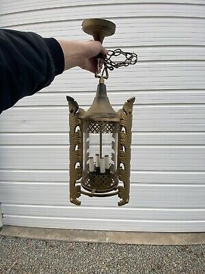 AWESOME!! Antique Ceiling Light Fixture Pendant-good Condition C11