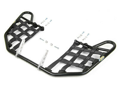 TRX 400EX and TRX 400X 1999-14 Blk Webbing Tusk Comp Series Nerf Bars Silver