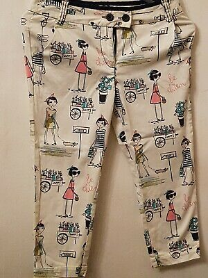 Girls Thick Cotton Peddle Pushers French Chic Design Aged 10 Years NEXT