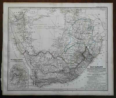 South Africa Cape Colony Orange Free State Transvaal Republic 1867 Stieler map