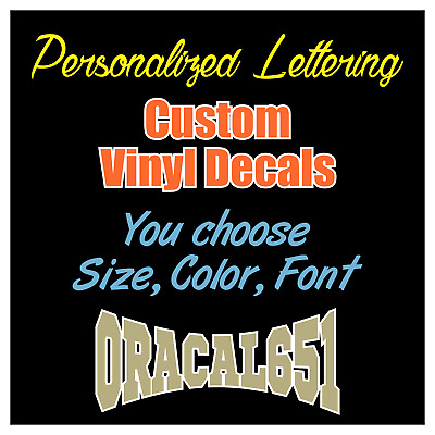 Custom Vinyl Lettering Decal Personalized Sticker Text Name Car Wall Window