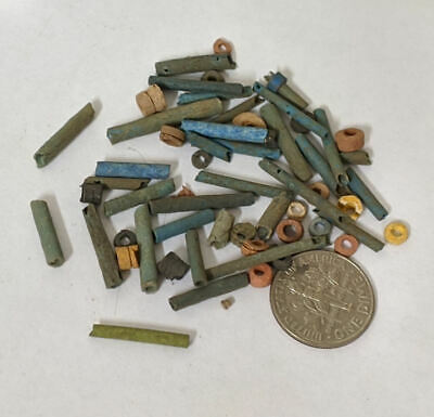Three Grams 2500 Year old Ancient Egyptian Faience Mummy Beads Lot (#L1367)