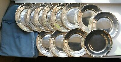 "12 Gorham Sterling Silver 6"" Bread & Butter Plates"