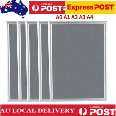 A0/A1/A2/A3/A4 Snap Frames Poster Clip Holders Displays Retail Wall Notice Board