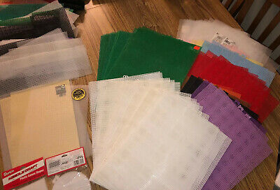 Darice Cross Stitch Plastic Canvas 7 Mesh Lot 63 sheets + More 1680