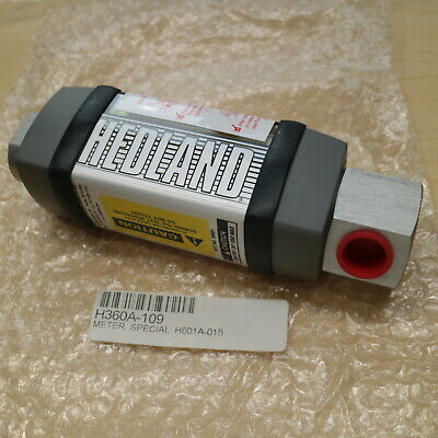 HEDLAND H601A-015 In-Line Oil Rate Indicator Flowmeter GPM/LPM 1.0-015/4-56