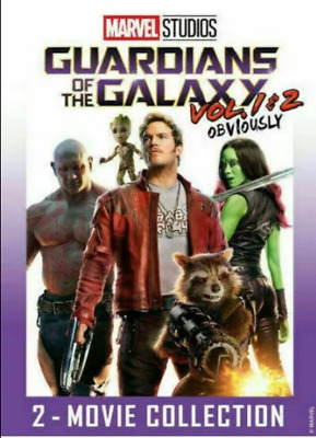Guardians of the Galaxy Vol. 1 & 2 DVD (2 Movie Collection 2019)  Free Shipping