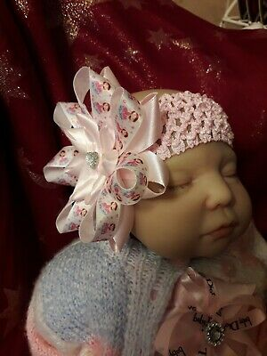 ROMANY BABY GIRL BIG PINK bling dancing FAIRY WAND DIAMONTE princess  HEADBAND