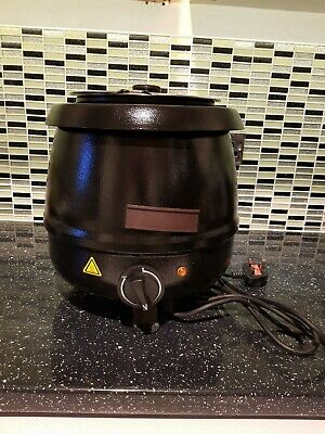 HORECA.. Soup kettle Black plug in electric  9 litres.