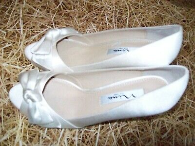 New!  Nina New York Quality Ivory Peep Toe Bridal Shoes Size UK 4  EU 37