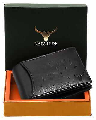LUXURY BOXED LEATHER WALLET ENGRAVED PERSONALISED FOR HIM PERFECT GIFT UK HIDE