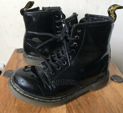 Toddler Dr Martens 'Brooklee' Patent Leather Boots- Size 9 (27)
