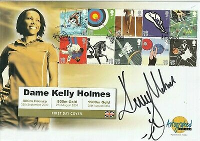 22 October 2009 Olympic Games Fdc Hand Signed By Dame Kelly Holmes Shs