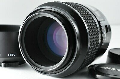 [Near Mint] Nikon AF Micro Nikkor 105mm f/2.8D Lens with Hood Caps from Japan