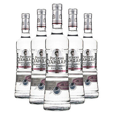 Russian Standard Platinum Vodka - 100cl - 6 Bottiglie - Roust Inc