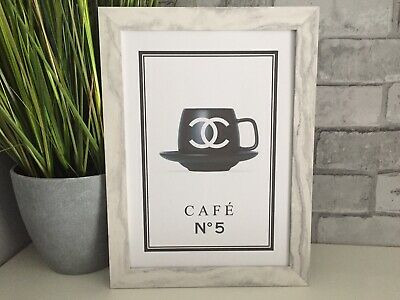 Chanel Coffee Cup art picture poster Dressing Room, Bedroom, kitchen, Salon, A4