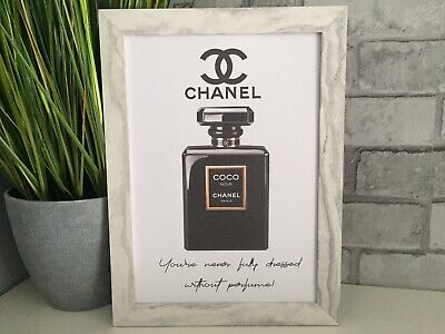 Chanel Pink Perfume Bottle art picture poster Dressing Room, Bedroom, kitchen A4