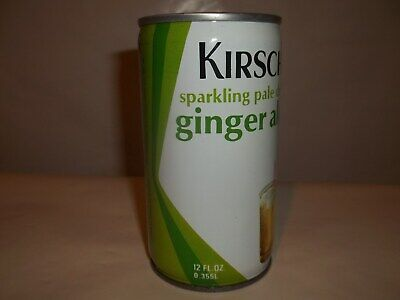 Kirsch Ginger Ale [Bottom Opened] College Point N.y. Steel Soda Pop Can