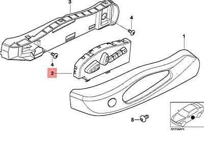 For BMW Genuine Power Seat Switch Front Left 52108255381
