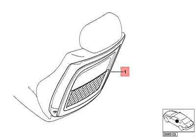 For BMW Genuine Seat Back Panel Front 52108235901