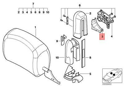 For BMW Genuine Seat Belt Retractor Cover Rear 52108267430