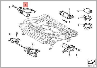 For BMW Genuine Seat Motor Front Left 52109168757