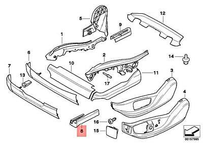 For BMW Genuine Seat Track Cover Front Left 52107165379