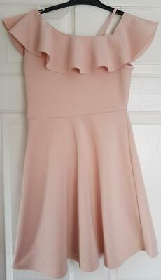 Girls Candy Couture, Peach, Flowy,Dress, Off Shoulder Detail   11 Yrs