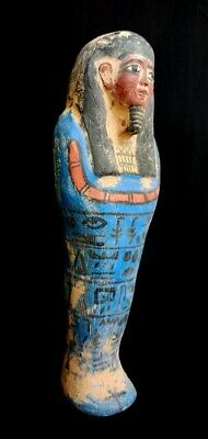 Ancient Egyptian Antiques Shabti Faience Rare Ushabti Statue Egypt 945 Stone