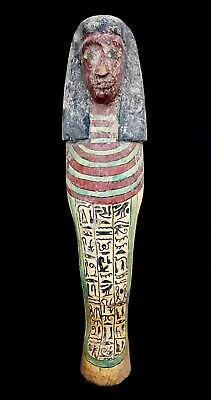 Egyptian Wood Sculpture Egypt Rare Carved Statue King Figurine Pharaoh Antique